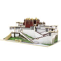 baratos -Robotime Quebra-Cabeças 3D Quebra-Cabeça Brinquedos de Montar Construções Famosas Arquitetura Chinesa Madeira 1 pcs Crianças Brinquedos Dom