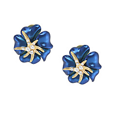 Women's Stud Earrings Fashion Floral Gold Plated Flower Jewelry For Party Birthday Daily