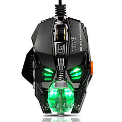 billiga Möss-USB-kabel Spelmus Optical MZ03 7 pcs nycklar RGB-ljus 4 Justerbara DPI-nivåer 8 programmerbara tangenter 500/1000/2000/4000 dpi
