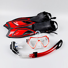 billiga Dykmasker, snorklar och simfötter-Snorklingspaket / Dykning Paket - Dykmaske, Dykfenor, Snorkel - Torrdräkt – överdel, Långa simfenor Dykning, Snorkelfenor Eco PC, Blandat Material  För