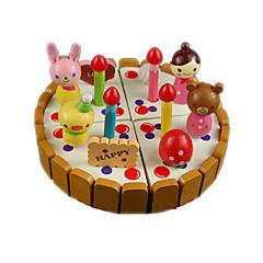 billiga Leksakskök och -mat-Leksaksmat Låtsaslek Tårta Efterrätt Trä Barn Pojkar Flickor Leksaker Present 1 pcs