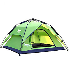 DesertFox® 3-4 Persoons Tent Dubbel Kampeer tent Eèn Kamer Automatische Tent waterdicht Regenbestendig voor Kamperen 2000-3000 mm Oxford-