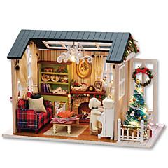 Sada na domácí tvoření Music Box Domek pro panenky Hračky Udělej si sám Dům Dřevo Pieces Unisex Vánoce Dárek