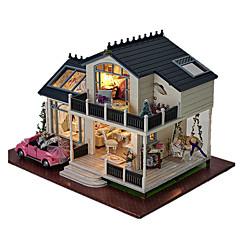 뮤직 박스 인형의 집 장난감 DIY 집 나무 조각 남여 공용 생일 선물