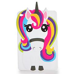billige Nettbrettetuier&Skjermbeskyttere-Etui Til Apple iPad Mini 4 iPad Mini 3/2/1 Mønster Bakdeksel 3D-tegneseriefigur Myk Silikon til iPad Mini 4 iPad Mini 3/2/1 Apple
