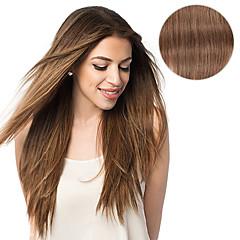お買い得  人毛エクステンション-Clip In 人間の髪の拡張機能 ストレート 人毛 女性用 日常