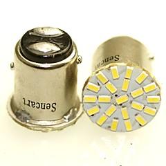 sencart 2 x 1157 ba15d p21 / 5w 22x3014smdカー自動テールサイドインジケータライトパーキングランプ電球whitedc12v