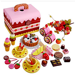 billiga Leksakskök och -mat-Leksaksmat Låtsaslek Tårta Trä Barn Pojkar Flickor Leksaker Present 1 pcs