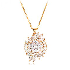 cheap Necklaces-Women's Zircon Pendant Necklace - Unique Design Euramerican Fashion Others Necklace For Wedding Party Birthday Congratulations Party /