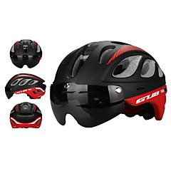 お買い得  自転車用ヘルメット-大人 バイクヘルメット エアロヘルメット 20 通気孔 耐衝撃性, サイズ調整機能 EPS スポーツ ロードバイク / サイクリング / バイク / マウンテンバイク - グレー / スカイブルー / レッド