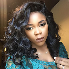 cheap Human Hair Wigs-Virgin Human Hair Lace Front Wig Brazilian Hair Loose Wave Short Bob 130% Density With Baby Hair Glueless For Black Women Natural Hairline