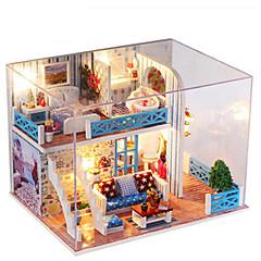 장난감 DIY 오리 집 나무 창조적 조각 여자아이 생일 선물