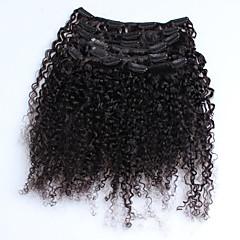 Χαμηλού Κόστους Εξτένσιον από Ανθρώπινη Τρίχα-Κουμπωτό Επεκτάσεις ανθρώπινα μαλλιών Kinky Curly Εξτένσιον από Ανθρώπινη Τρίχα Φυσικά μαλλιά Γυναικεία