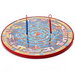 tanie Gry i puzzle-Muwanzi Gry planszowe Magnetyczne labirynty Zabawki Magnetyczne Duży rozmiar Okrągły Drewniany Sztuk Dla dzieci Prezent
