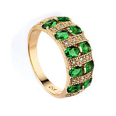 Women's Ring Synthetic Emerald Unique Design Fashion Euramerican Zircon Alloy Jewelry Jewelry For Wedding Special Occasion Anniversary