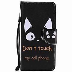 billige Telefoner og nettbrett-Etui Til Motorola Kortholder Lommebok med stativ Flipp Mønster Heldekkende etui Katt Hard PU Leather til Moto G5 Plus Moto G5