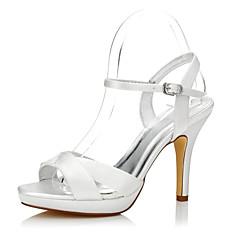 olcso -Női Magassarkúak Kényelmes Club cipő színezhető cipő Selyem Tavasz Nyár Ruha Party és Estélyi Kényelmes Club cipő színezhető cipő Csat
