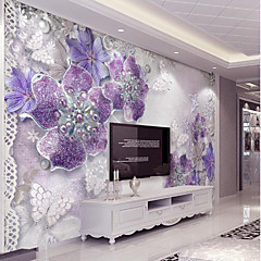 cheap wallpaper online wallpaper for 2019purple flash silver diamond flower custom 3d large wall cover mural wallpaper fit coffee room bedroom kitchen art flowe
