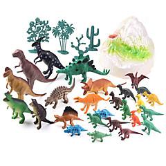 preiswerte -Drachen & Dinosaurier Dinosaurier-Figur Triceratops Jurassischer Dinosaurier Velociraptor Kunststoff Kinder Jungen Mädchen Spielzeuge Geschenk