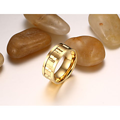 Yüzük Mücevher Moda Eski Tip Kişiselleştirilmiş Titanyum Çelik Round Shape Mücevher Için Düğün Parti Günlük 1 Set
