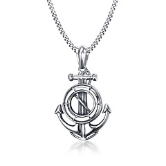 Men's Pendant Necklaces Statement Necklaces Stainless Steel Titanium Steel Euramerican Fashion Casual Unqiue Jewelry