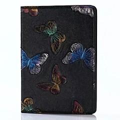 iPad 2017 9.7inch luksusta aitoa nahkaa tapauksissa kuuluttava kohokuvio 3d sarjakuva perhonen iPadille air2 / Air1 / ipad pro 9.7