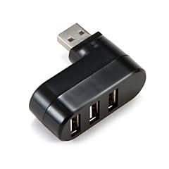 3 porty USB 2.0 vysokorychlostní rozbočovač ultra tenký černý / bílý