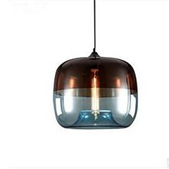 billiga Dekorativ belysning-Trumma Hängande lampor Glödande Målad Finishes Metall Glas LED 110-120V / 220-240V Varmt vit / E26 / E27