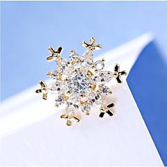 Dámské Brože Další Křišťál Kubický zirkon Jedinečný design Květinový Módní Rozkošný Euramerican Křišťál Zirkon Měď Šperky ProSvatební