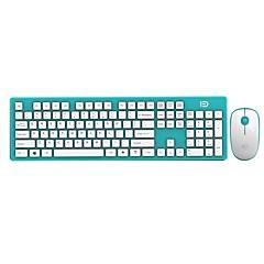 Fd ultra dünne energiesparende 2.4ghz drahtlose Tastatur und Maus Combo für PC und Mac