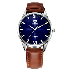 cheap Dress Classic Watches-YAZOLE Men's Wrist Watch Leather Black / Brown Casual Watch Analog Classic Casual - Black Brown One Year Battery Life