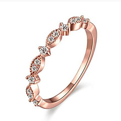 billige Motering-Dame Syntetisk Diamant Ring - Rose gull, Gullbelagt Mote 5 / 6 / 7 Hvit / Rose Rosa Til Bursdag Gratulerer Gave
