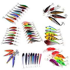 cheap Fishing Lures & Flies-53 pcs Hard Bait Metal Bait Swimbaits Minnow Crank Pencil Vibration/VIB Lure kits Fishing Lures Metal Bait Vibration/VIB Pencil Crank