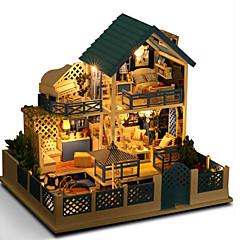 Sada na domácí tvoření Domek pro panenky Osvětlení hraček Hračky Udělej si sám Ruční výroba Vynikající Dům Vila Přírodní dřevo Romantické