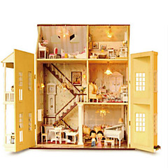 cheap -CUTE ROOM Wood Model Model Building Kit Toys DIY Famous buildings House Architecture Plastics Wood Classic Pieces Unisex Gift
