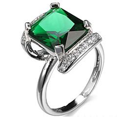 Ring Settings Ring Band Rings Women's Euramerican Luxury Elegant Square Style  Zircon Wedding  Birthday Party  Movie Gift Jewelry