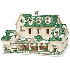 DIY KIT 3D Puzzles Jigsaw Puzzle Toys Famous buildings House Architecture 3D Not Specified Unisex Pieces