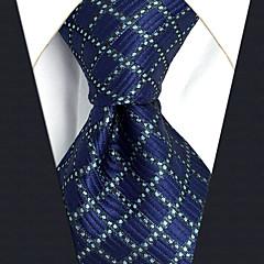 Męskie Impreza / Praca / Podstawowy Podstawowy Krawat Kolorowy blok / Kratka / Żakard