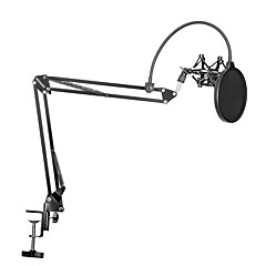 Nb-35 mikrofon süspansiyonlu kol standı klips tutucu ve masa montaj kelepçesi pop filtre ön cam maske kalkanı klips kiti