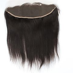 billiga Peruker och hårförlängning-Brasilianskt hår 4x13 Stängning Rak / Klassisk Fria delen Schweizisk spetsperuk Remy-hår / Äkta hår Dagligen