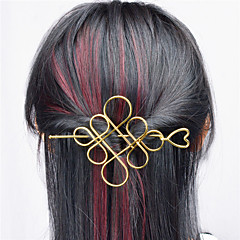 cheap Hair Jewelry-Europe and the United States foreign trade euro contracted joker hair accessories Hollow metal Chinese knot hair half arm type A0331-0332