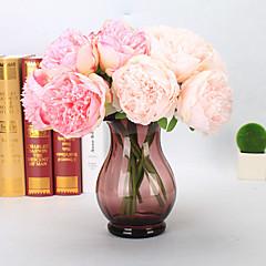 billige Kunstige blomster-Kunstige blomster 5 Gren Europeisk Peoner Bordblomst