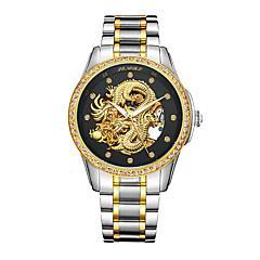 Herrn Modeuhr Japanisch Wasserdicht Transparentes Ziffernblatt Nachts leuchtend Edelstahl 24k vergoldet Band Luxuriös Silber Gold