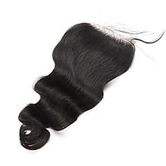 cheap Wigs & Hair Pieces-Body Wave 5x5 Lace Closure Malaysian Remy Hair Baby Hair Bleached Knots 100% Human Hair CARA HAIR Natural Color