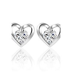 Žene Sitne naušnice Kristal Kubični Zirconia Kružni dizajn Srce Moda Bohemia Style Personalized Euramerican Simple Style Uglađeni Klasika