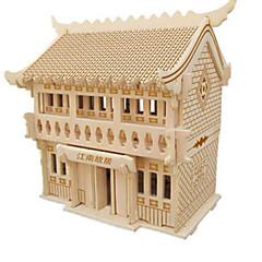 baratos -Quebra-Cabeças 3D Quebra-Cabeça Brinquedos de Montar Construções Famosas Faça Você Mesmo Madeira Natural Clássico Crianças Unisexo Dom
