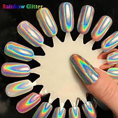 preiswerte Neue Ankünfte für Nagel-1pcs Acrylpulver Nagel Glitter Glitzerpulver Puder Pailletten Spiegeleffekt Laser-Holografie Strahlend & Funkelnd Nagel-Kunst-Design