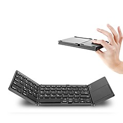 billiga Keyboards-Bluetooth 87 Office Keyboard Mini Vikbar Med pekplatta