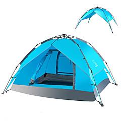 billige Telt og ly-LINGNIU® 3-4 personer Strandtelt Telt Dobbelt camping Tent Ett Rom Automatisk Telt Hold Varm Støvtett til >3000 mm PU CM