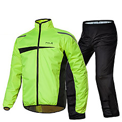 POLE Riding Motorcycle Raincoat Rain Pants Set Single Reflex Split Electric Car Raincoat  Adult